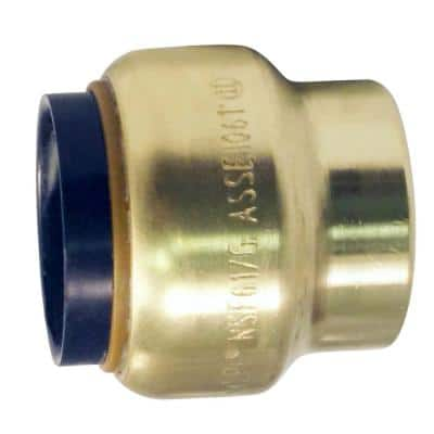 1/2 in. Brass Push-to-Connect Cap