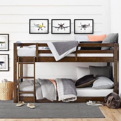 Noma Twin Mocha Wood Bunk Bed Frame
