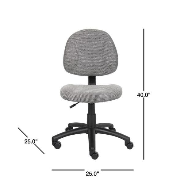 Tall Gray Fabric Task Chair, Grey Fabric Desk Chair With Arms