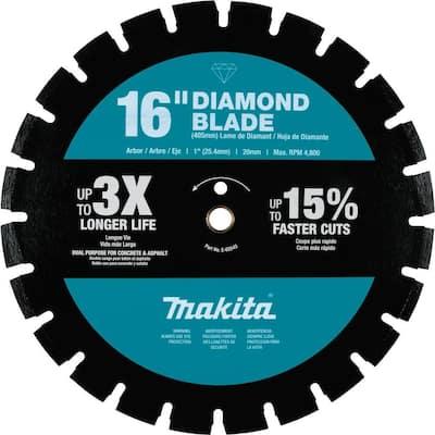 16 in. Diamond Blade, Segmented, Dual Purpose