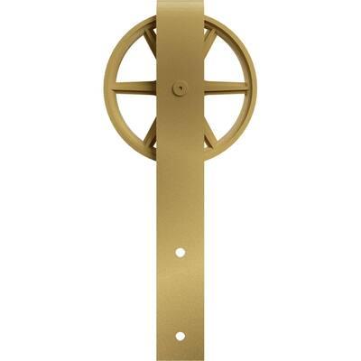 1-5/8 in. x 6 in. x 15 in. Steel Premium Wagon Wheel Roller Hanger Moulding Jacob's Gold