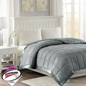 Prospect All Season Charcoal Hypoallergenic Down Alternative King Quilted Blanket