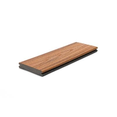 Transcend 1 in. x 5.5 in. x 1 ft. Tiki Torch Composite Decking Board Sample