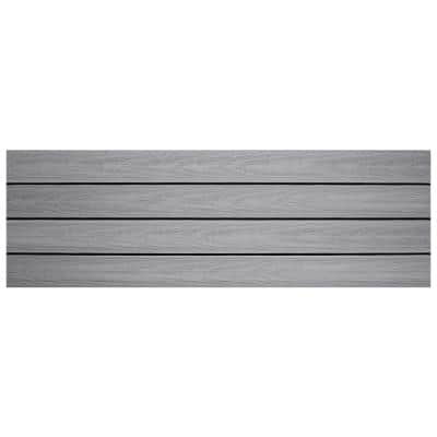 UltraShield Naturale 1 ft. x 3 ft. Quick Deck Composite Outdoor Deck Tile in Icelandic Smoke White (15 sq. ft. per Box)