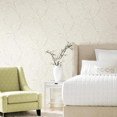 Pearl Cherry Blossom Peel and Stick Wallpaper (Covers 28.18 sq. ft.)