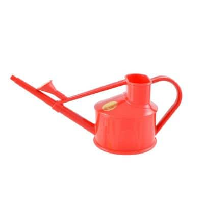 English Garden Handy 1-Pint Red Plastic Watering Can