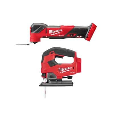 M18 FUEL 18-Volt Lithium-Ion Cordless Brushless Oscillating Multi-Tool with FUEL Jigsaw (Tool-Only)