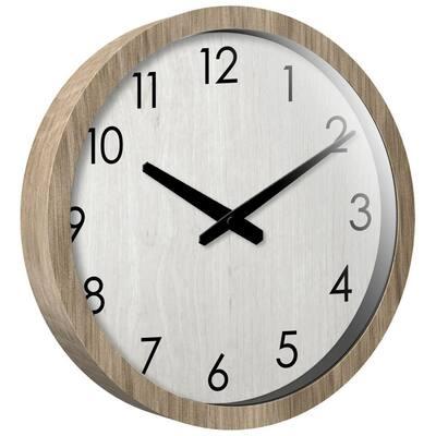 12 in. Wood Grain Painted Wall Clock