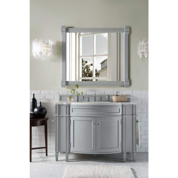 James Martin Vanities Brittany 46 In W Single Bath Vanity In Urban Gray With Soild Surface Vanity Top In Arctic Fall With White Basin 650v46ugr3af The Home Depot