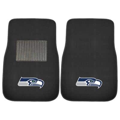 NFL Seattle Seahawks 2-Piece 17 in. x 25.5 in. Carpet Embroidered Car Mat