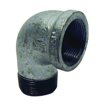 1/2 in. Galvanized Malleable Iron 90 Degree FPT x MPT Street Elbow