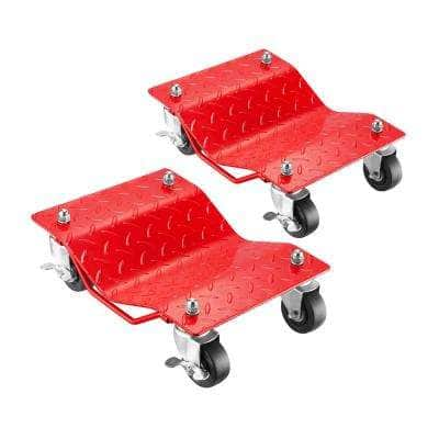 1,500 lbs. Capacity Red Textured Wheel Dolly (2-Pack)