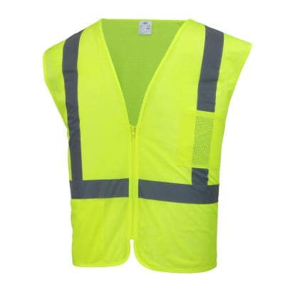 Hi Visibility Lime Green Class 2 Reflective Safety Vest
