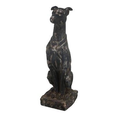 Magnesian Black Dog Figurine