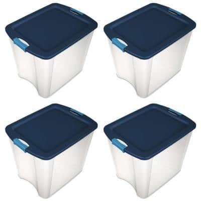 26 Gal. Latch and Carry Storage Bin Box Containers (4-Pack)