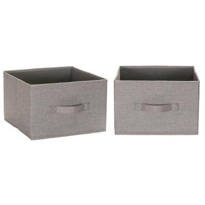 7.75 in. H x 11.75 in. W Gray Poly-Blend Canvas Wide Closet Drawer Organizer Hanging or Individual (2-Pack)
