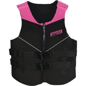 XL Neoprene Multi-Sport Vest for Over 90 lbs., Pink/Black