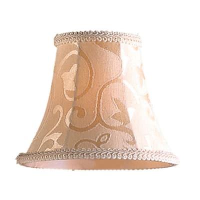 Elizabethan 1-Light Patterned Beige Fabric Mini Shade