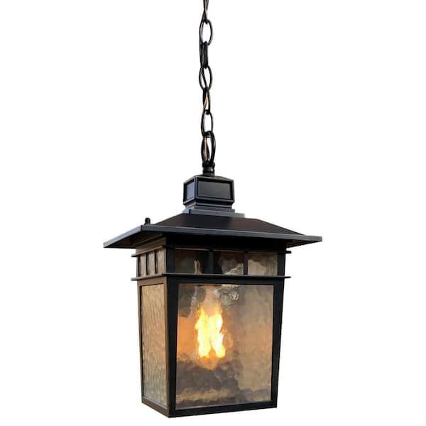 Cullen 1 Light Oil Rubbed Bronze Outdoor Hanging Lantern El727lhor The Home Depot
