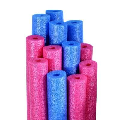 Robelle Blue And Pink Swimming Pool Water Noodles 12 Pack Twln36 12 The Home Depot