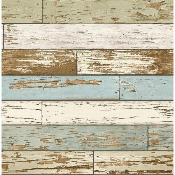 Brewster Levi Green Scrap Wood Paper Strippable Roll Wallpaper Covers 56 Sq Ft 2701 22302 The Home Depot