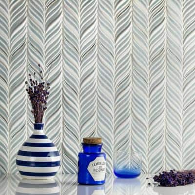 Delphi Alula Arctic Blue 10 in. x 12 in. Glazed Ceramic Mosaic Tile (0.85 sq. ft./Sheet)