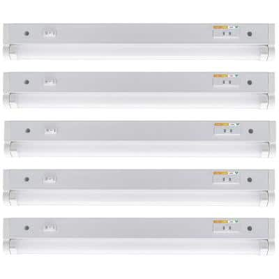 18 in. Kitchen Pantry Laundry LED Under Cabinet Light w/Adjustable Beam, 3 CCT, Grow Mode for Indoor Gardening (5-Pack)