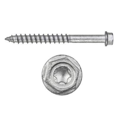 Kwik-Con II 1/4 in. x 1-3/4 in. Zinc Plated Carbon Steel Torx Hex Head Concrete Screw Anchor (100-Pack)