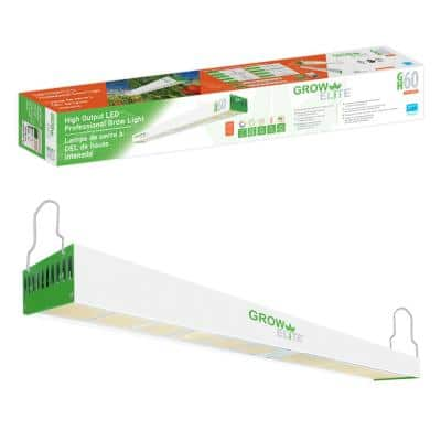 4 ft. High Output Full Spectrum LED Grow Light for Greenhouse or Open Table 600W 120-480V Single Strip 1500PPF uMol/s