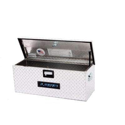 36 in Diamond Plate Aluminum Full Size Chest Truck Tool Box with mounting hardware and keys included, Silver