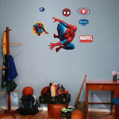 30 in. x 24 in. Spiderman and Assorted Wall Decals