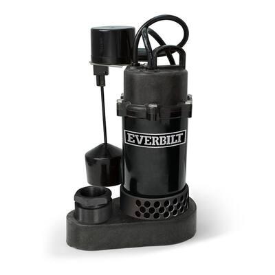 1/2 HP Aluminum Sump Pump Vertical Switch