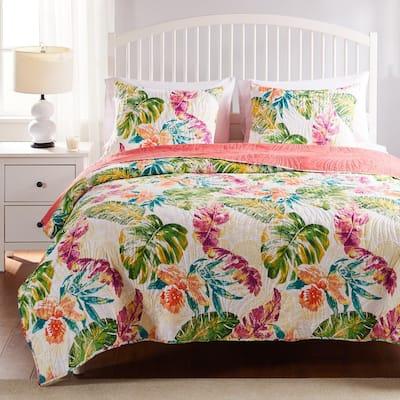 Tropics 3-Piece Cotton Blend King/California King Quilt Set