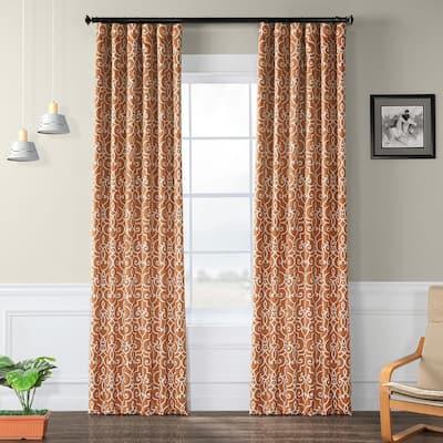 Nouveau Rust Geometric Blackout Curtain - 50 in. W x 96 in. L