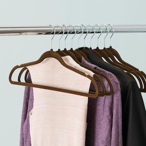 Velvet Hanger Brown (10-Piece)