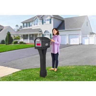 Classic Black / Black Post Mount Mailbox