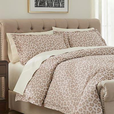 Chloe 3-Piece Leopard Jacquard King Duvet Cover Set