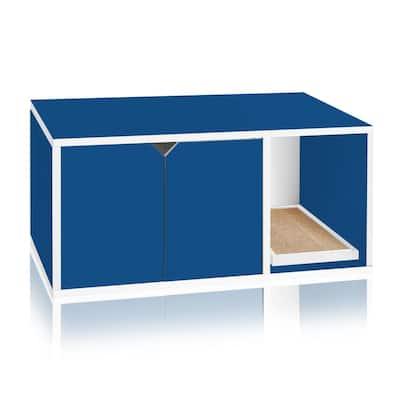 Eco zBoard Blue Modern Cat Litter Box Enclosure Furniture