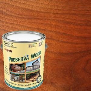1 gal. 100 VOC Oil-Based Redwood Penetrating Exterior Stain and Sealer
