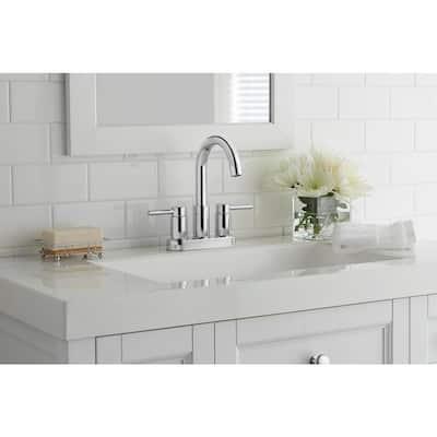 Dorind 4 in. Centerset 2-Handle High-Arc Bathroom Faucet in Chrome