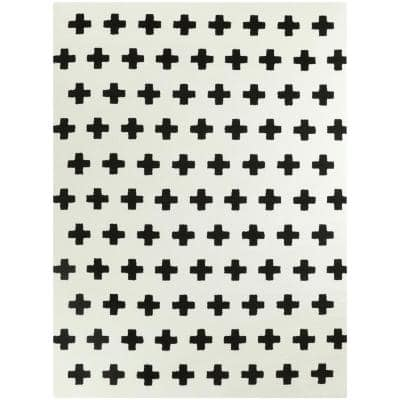 Super Soft Plus Black 4 ft. x 6 ft. Area Rug