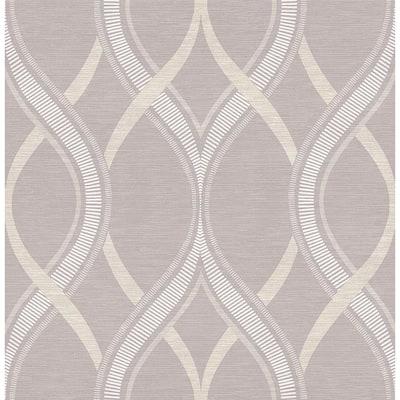 Frequency Lavender Ogee Lavender Wallpaper Sample
