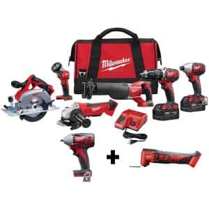 M18 18-Volt Lithium-Ion Cordless Combo Tool Kit (6-Tool) w/ 3/8 in. Impact Wrench and Oscillating Multi Tool