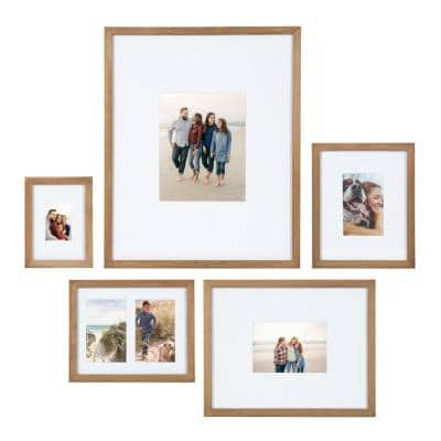 Gallery Natural Picture Frame (Set of 5)