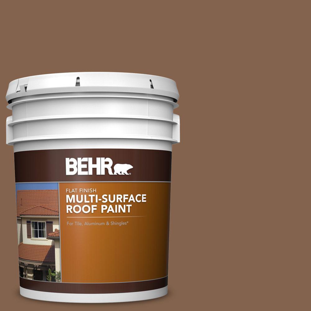 5 gal. #RP-19 Aspen Gold Flat Multi-Surface Exterior Roof Paint