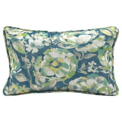 Surplus Floral Lumbar Outdoor Throw Pillow (2-Pack)