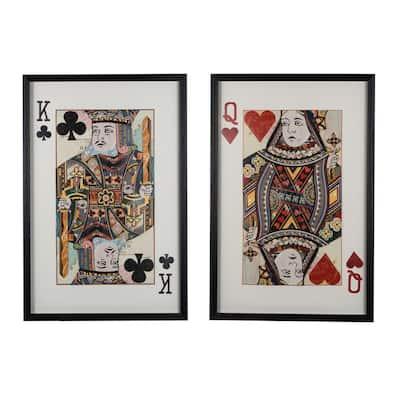 Royal White, Black Pair Framed Wall Art (Set of 2)