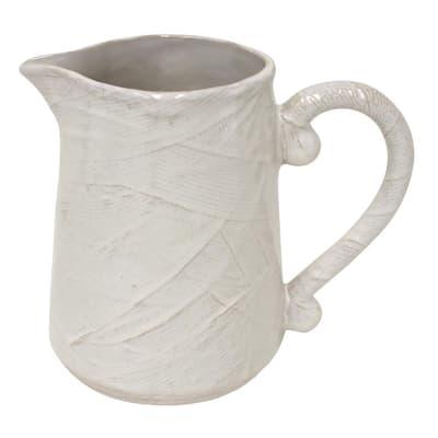 Bali 72 fl. oz. Ivory Ceramic Pitcher