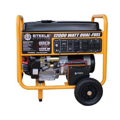 9,000-Watt Electric Start Dual Fuel Portable Generator