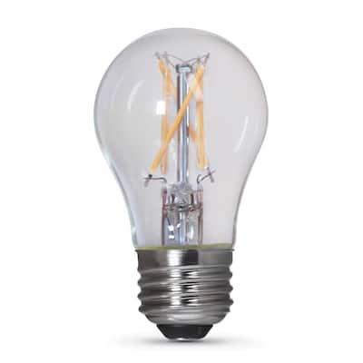 40-Watt Equivalent A15 Clear Glass E26 Base Appliance LED Light Bulb, Soft White 2700K